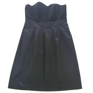 Banana Republic Strapless Dress Black Velvet 6